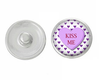 Kiss Me Snap - Compatible with Studio66 LLC -  Gingersnaps - Magnolia and Vine - Noosa 18-20mm Base - Handpressed Snaps