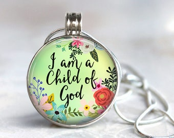 Christian Themed Magnetic Interchangeable Pendant - 10 Options - Bible Verses - Gift - Wedding - Religious - Faith - Inspiration - ArtClix