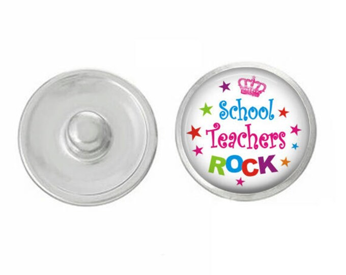 School Themed Snaps - Pair with Our Base Pieces - Also Coordinates with 18-20mm GingerSnaps and Magnolia and Vine Base Pieces