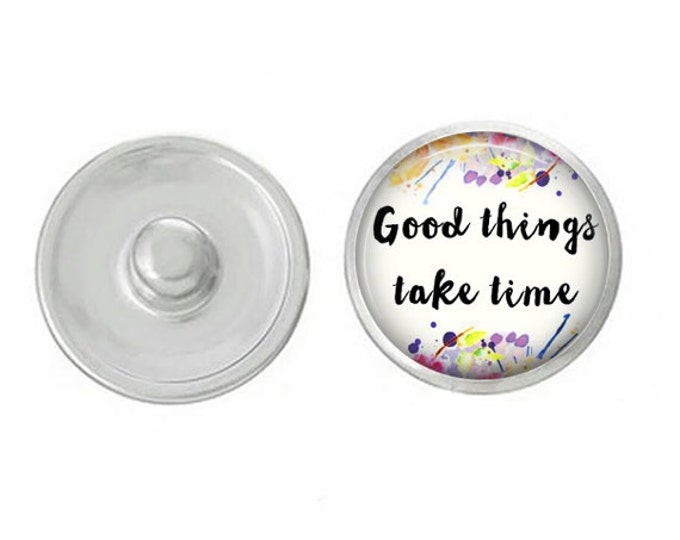 Good Things Snap - Compatible with Gingersnaps - Ginger Snaps - Magnolia and Vine - Base Pieces - 18-20mm Snaps - Interchangeable Snap