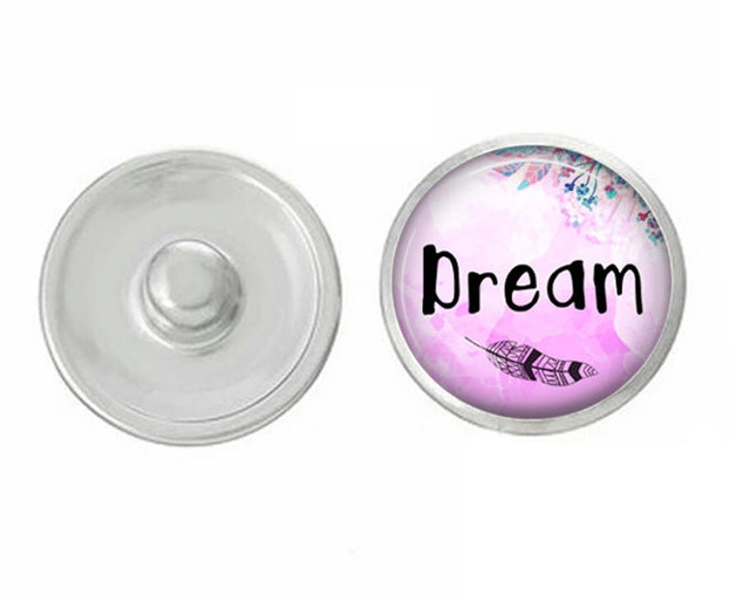 Dream Snap - Compatible with Gingersnaps - Ginger Snaps - Magnolia and Vine - Base Pieces - 18-20mm Snaps - Interchangeable Snap - Snap