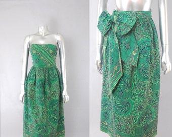 Robe de tiki tribal sans fin d'été | robe vintage des années 1960 | des années 60 robe hawaïenne