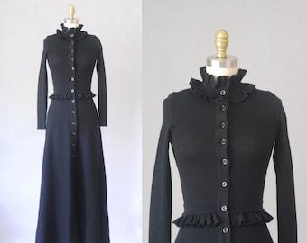 Maxi robe en maille Abba Linea | robe longue des années 1970 | robe vintage des années 70