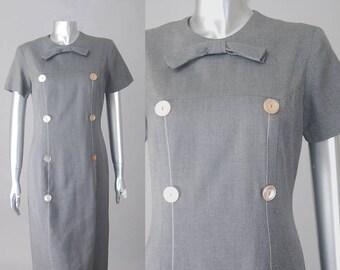 Robe fourreau Margaret | des années 1960 de gaine robe | robe vintage des années 50 gris