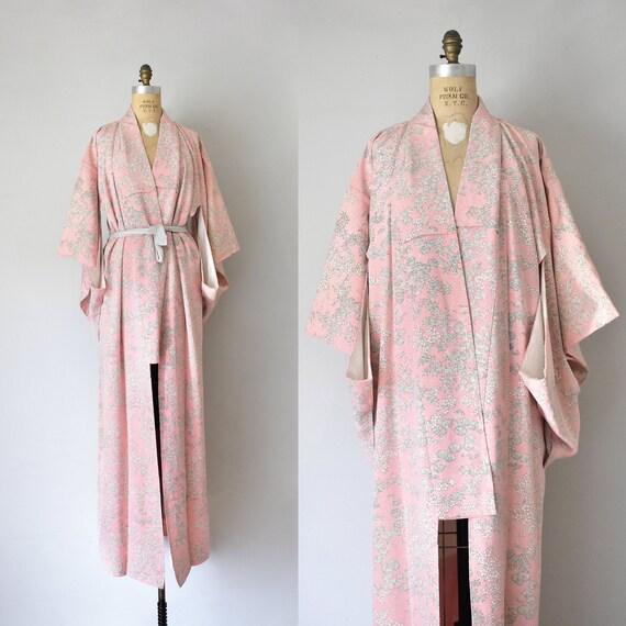 Mayumi kimono robe, silk robe, boudoir lingerie, d