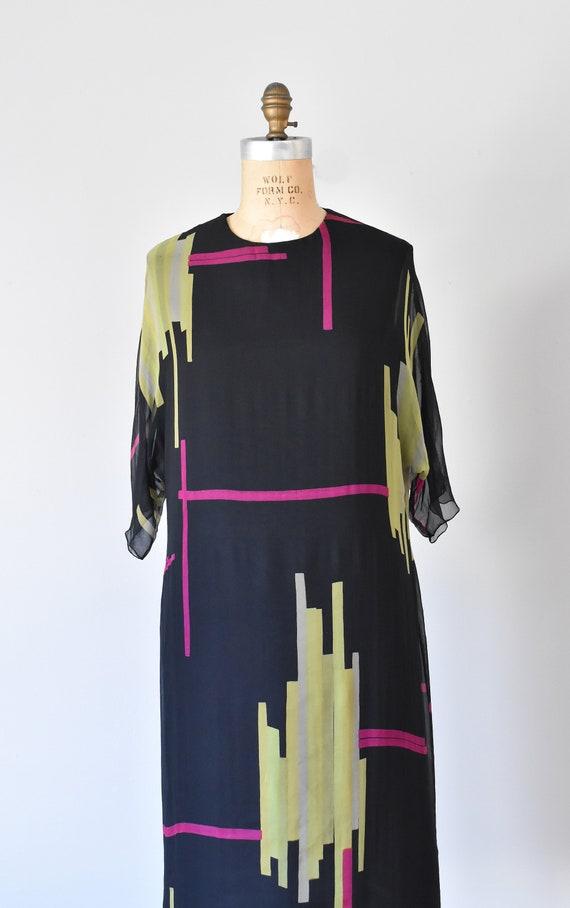 Teal Traina color block silk dress, mad men 1960s… - image 5