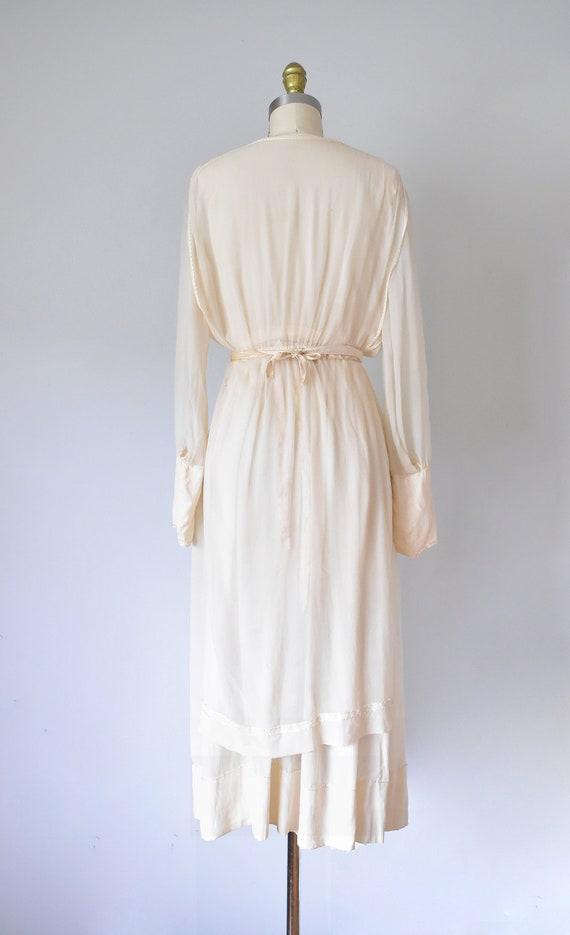 Belle silk edwardian wedding gown, silk dress, ed… - image 8