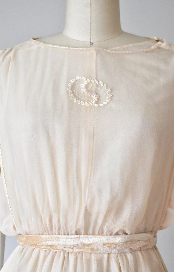 Belle silk edwardian wedding gown, silk dress, ed… - image 3