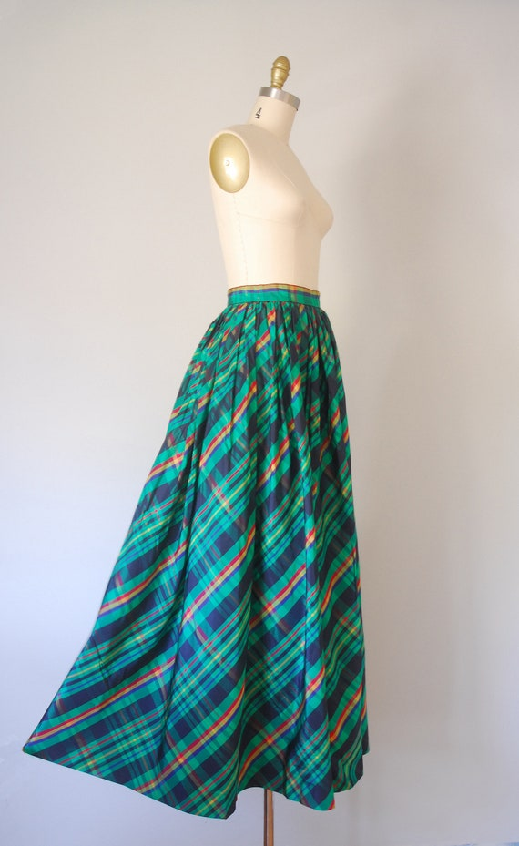 Alice plaid maxi skirt, tartan plaid skirt, 80s c… - image 4