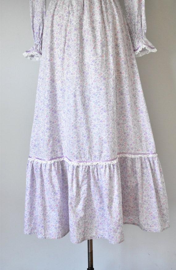 Arabella floral prairie dress, purple 70s dress, … - image 8