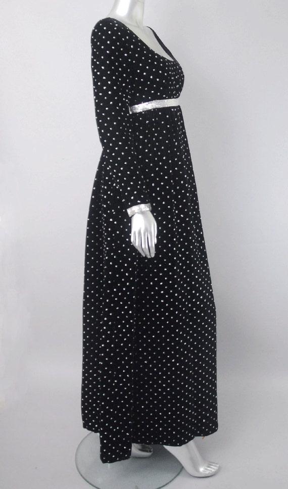 Ceil Chapman velvet empire waist dress, velvet dr… - image 4