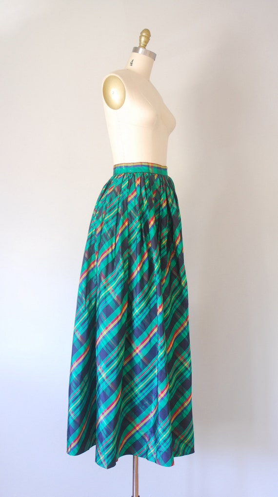 Alice plaid maxi skirt, tartan plaid skirt, 80s c… - image 6