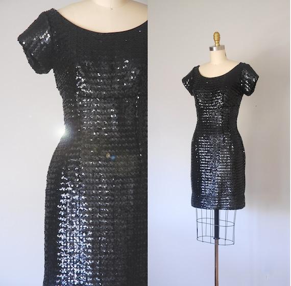 Prisco sequin 1960s dress, sequin dress, party dre