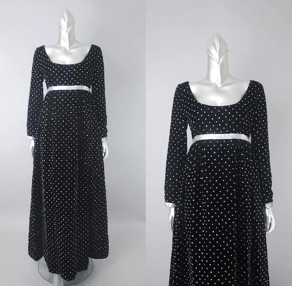 Ceil Chapman velvet empire waist dress, velvet dr… - image 1
