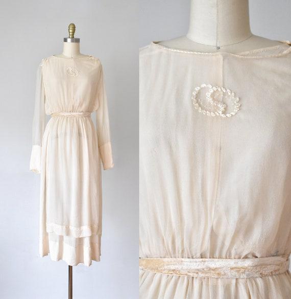 Belle silk edwardian wedding gown, silk dress, ed… - image 1