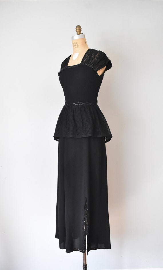 Gilda 40s rayon skirt suit, sequins womens suit, … - image 3