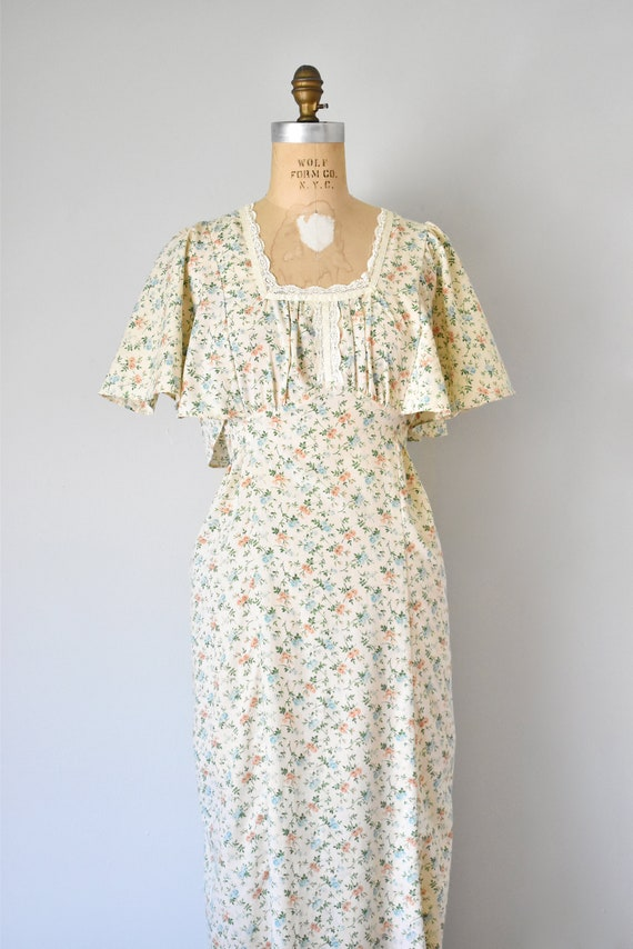 Harmony flower print prairie dress, cottagecore d… - image 3