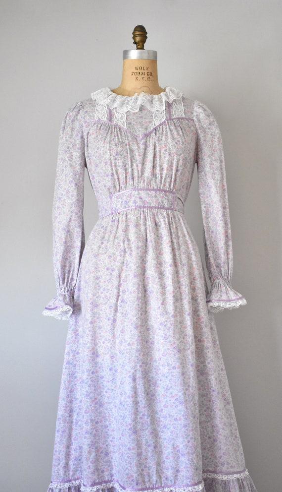 Arabella floral prairie dress, purple 70s dress, … - image 5