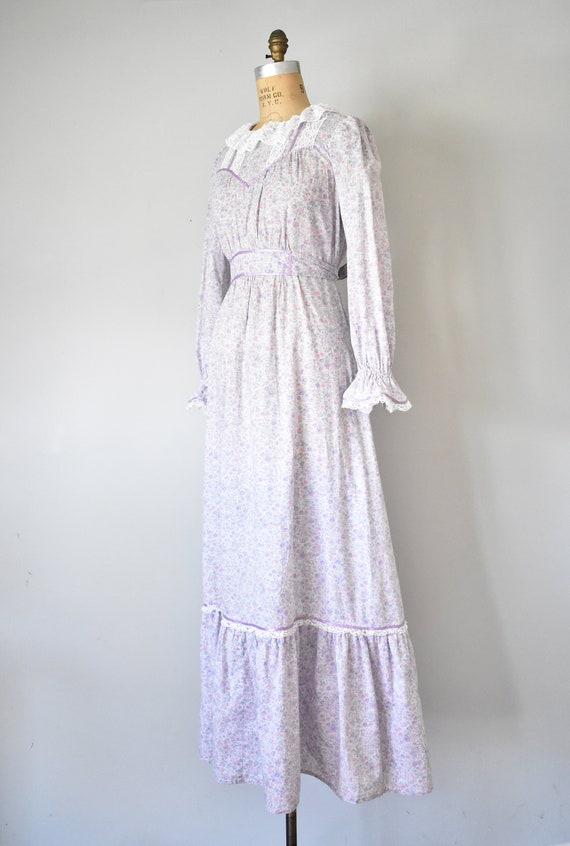 Arabella floral prairie dress, purple 70s dress, … - image 6