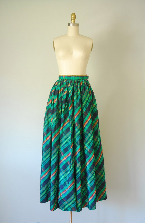 Alice plaid maxi skirt, tartan plaid skirt, 80s c… - image 3