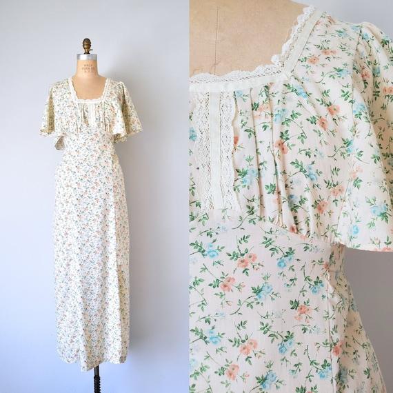 Harmony flower print prairie dress, cottagecore d… - image 1