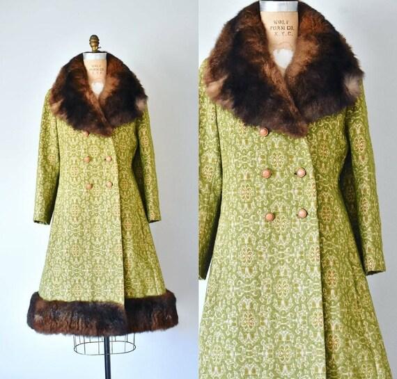 Menken 1960s tapestry coat, bohemian brocade princ