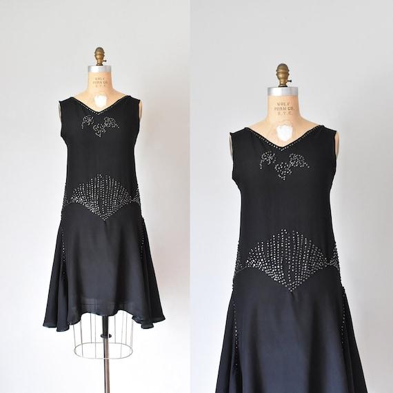 Vivien 1920s flapper dress, 20s vintage black dres