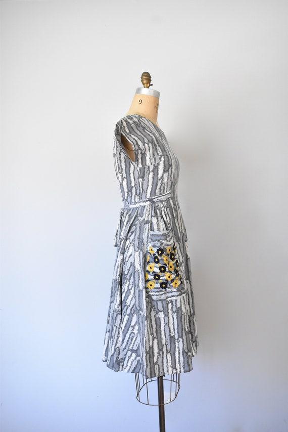 Josephine cotton wrap dress, 1950s dress, 50s cot… - image 6
