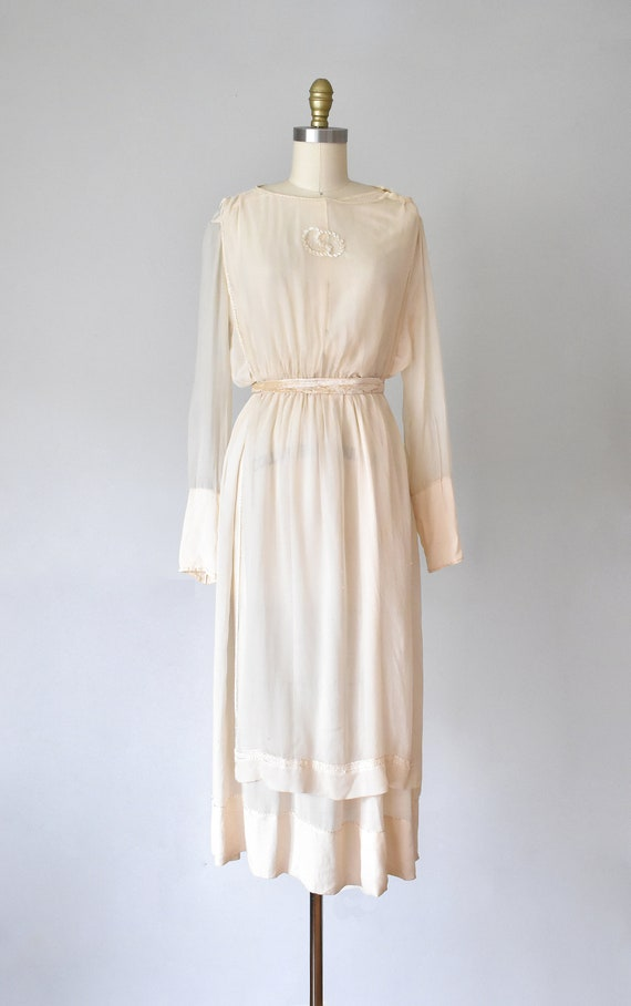 Belle silk edwardian wedding gown, silk dress, ed… - image 2