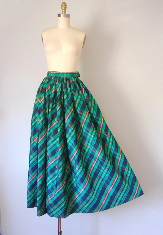 Alice plaid maxi skirt, tartan plaid skirt, 80s c… - image 2