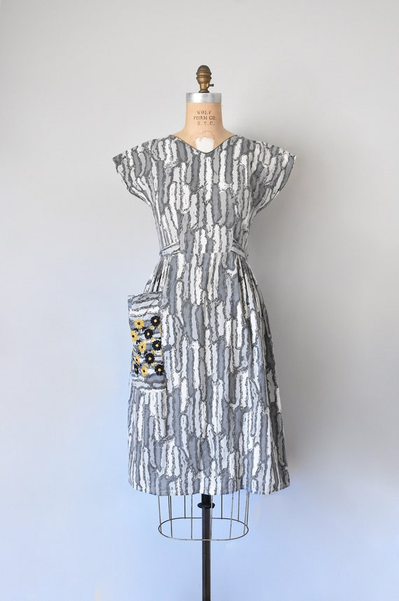 Josephine cotton wrap dress, 1950s dress, 50s cot… - image 2