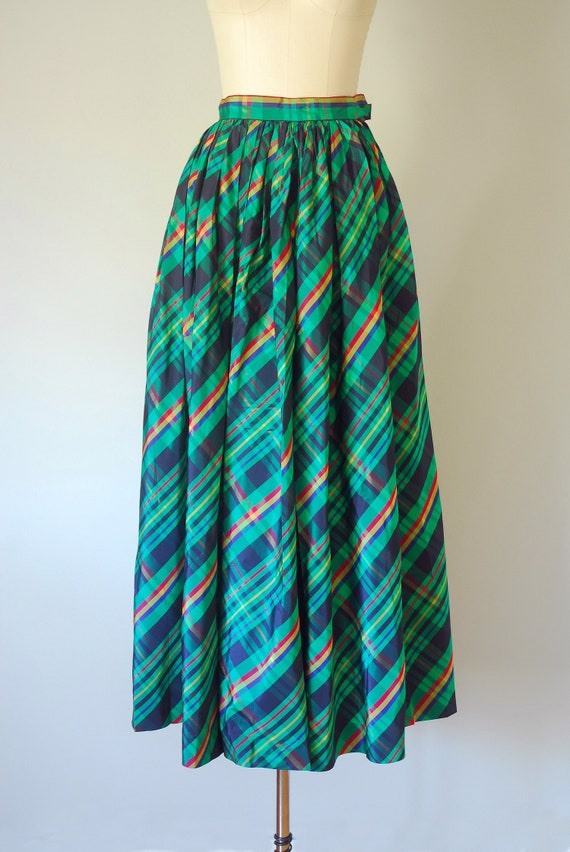 Alice plaid maxi skirt, tartan plaid skirt, 80s c… - image 5