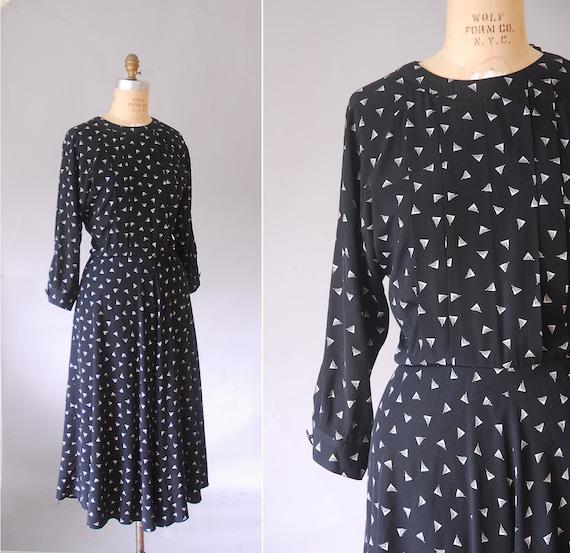 novelty swing dress, long black dress, plus size dresses, 1980 retro dress,  1940s