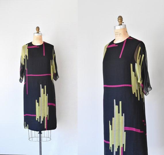 Teal Traina color block silk dress, mad men 1960s