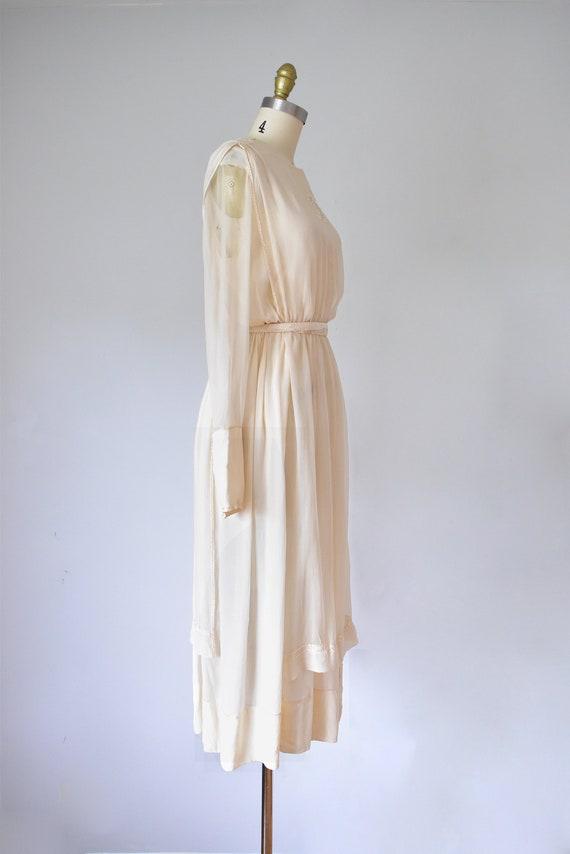 Belle silk edwardian wedding gown, silk dress, ed… - image 5