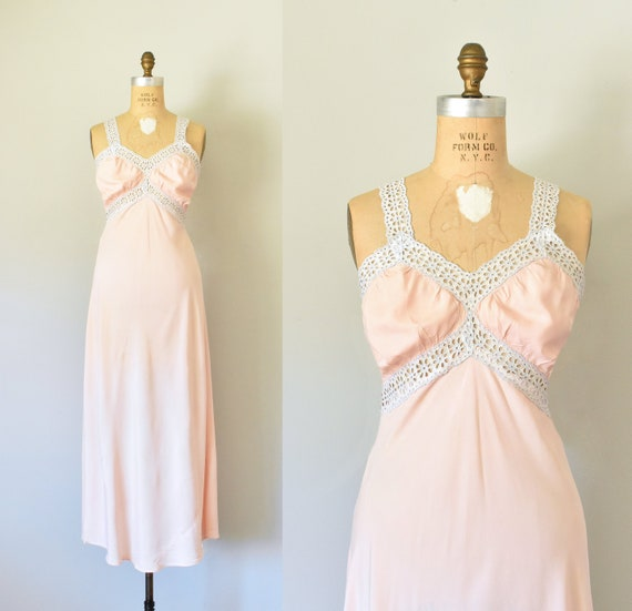 Vivienne 1930s rayon nightgown, bridal lingerie, a