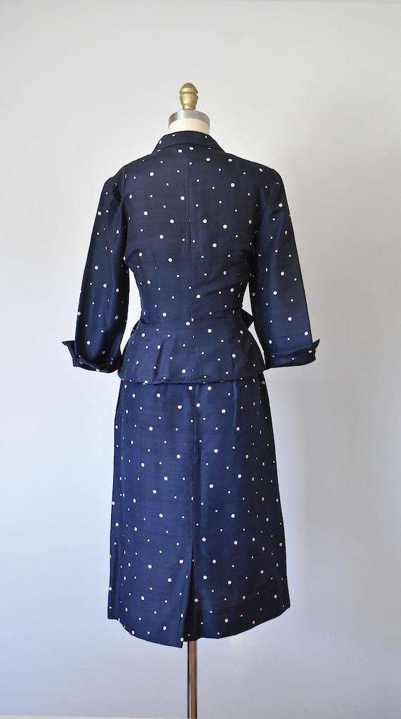 R & K silk shantung suit, vintage 1940s suit, pol… - image 5