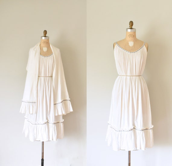 Lucilla white bohemian dress, 70s goddess dress, boho white dress, plus  size dress, beach wedding, white tunic, bohemian clothing