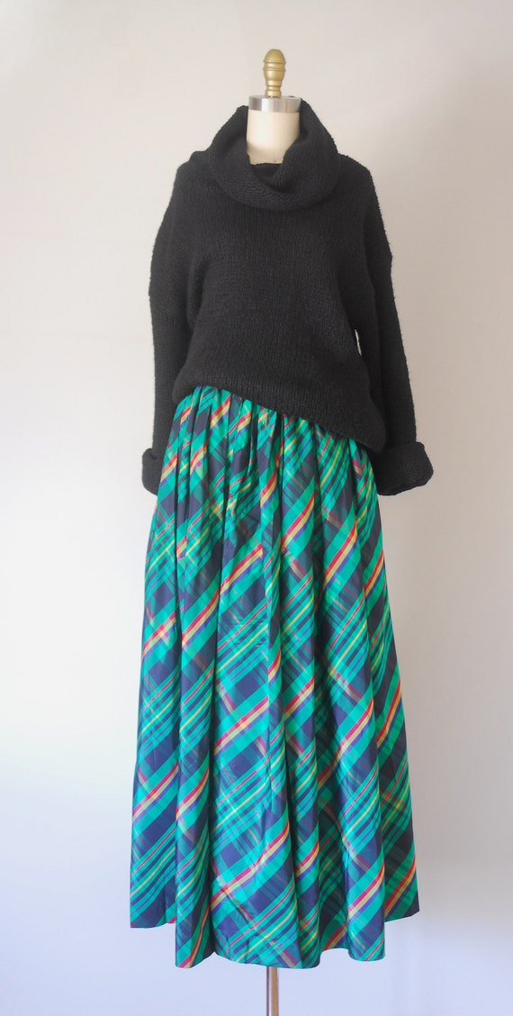 Alice plaid maxi skirt, tartan plaid skirt, 80s c… - image 8