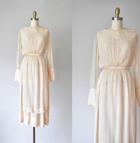 Belle silk edwardian wedding gown, silk dress, edw