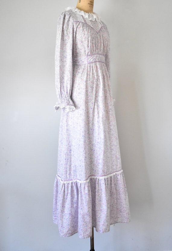 Arabella floral prairie dress, purple 70s dress, … - image 4
