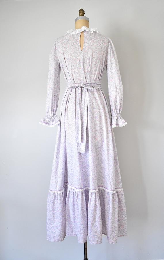 Arabella floral prairie dress, purple 70s dress, … - image 9