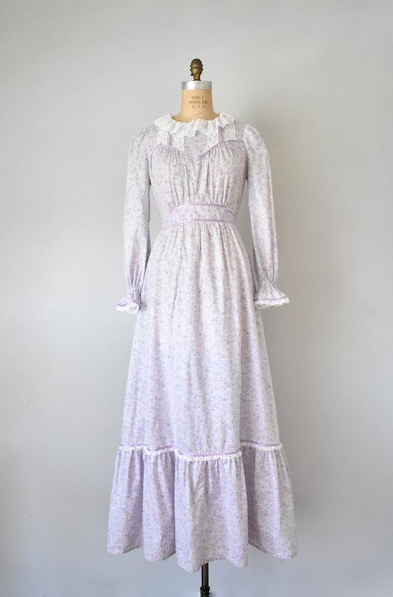Arabella floral prairie dress, purple 70s dress, … - image 2