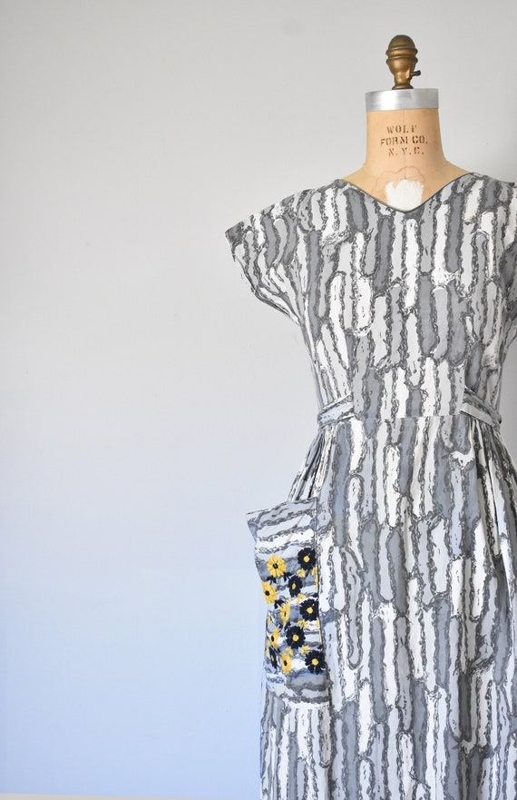 Josephine cotton wrap dress, 1950s dress, 50s cot… - image 4