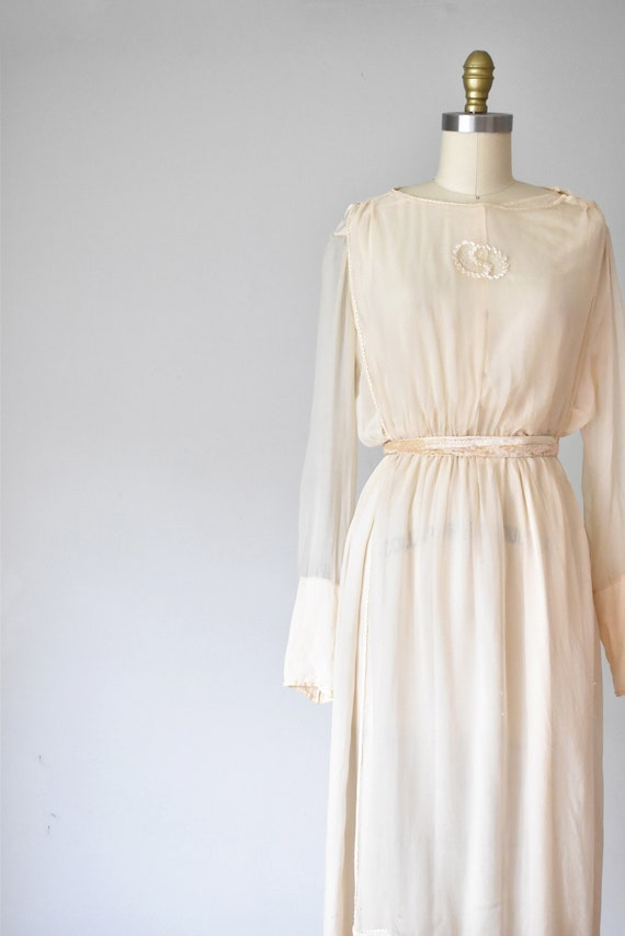 Belle silk edwardian wedding gown, silk dress, ed… - image 4