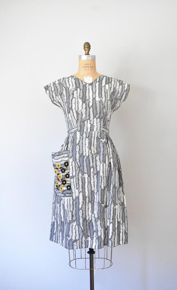 Josephine cotton wrap dress, 1950s dress, 50s cot… - image 9