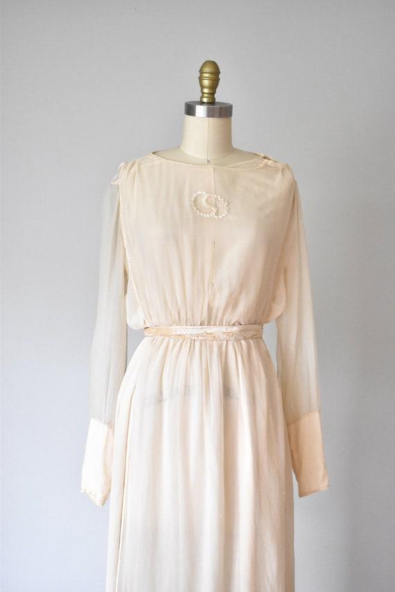 Belle silk edwardian wedding gown, silk dress, ed… - image 6