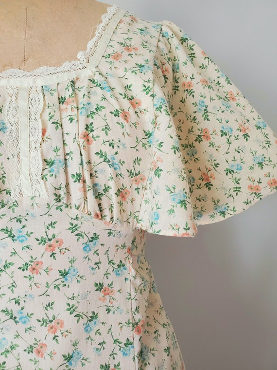 Harmony flower print prairie dress, cottagecore d… - image 5