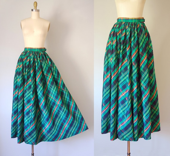Alice plaid maxi skirt, tartan plaid skirt, 80s c… - image 1