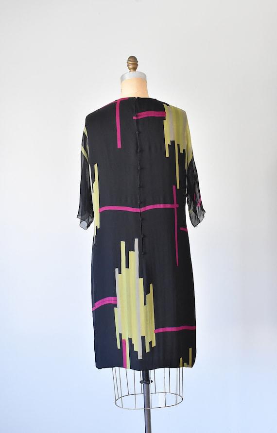 Teal Traina color block silk dress, mad men 1960s… - image 7